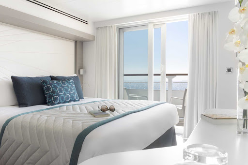 It's all about comfort, style, and relaxation in the staterooms on Ponant's Le Lyrial.