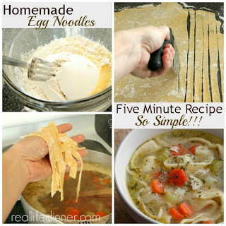 Five Minute Homemade Egg Noodles {How To Post}