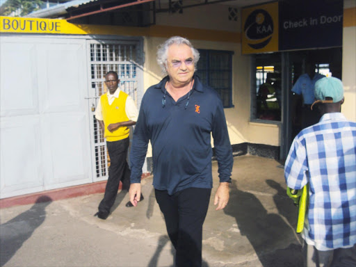 Italian billionaire Flavio Briatore, who has termed Kenya Airways unpatriotic for failing to introduce direct flights from Italy. Photo/FILE