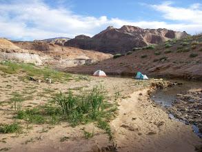 Photo: Camp at cove near San Juan River confluence