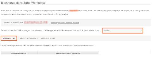 Paramétrer une adresse mail