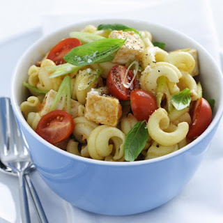 Chicken Pasta Salad with Curry Dressing.