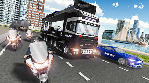 US Police Car Transport Cruise Ship Simulator 2018 1.9.6 Cheat screenshots 1