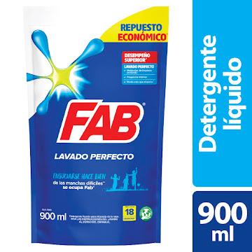 Detergente Fab Liquido   Regular Doypack X900Ml.