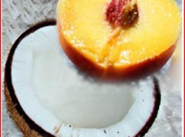 Coconut Peach Kuchen