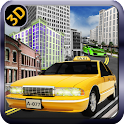 Louco Rush City Taxi Driver 3D icon