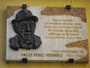 Photo: Maison natale du poète  Paco Perez Herrero