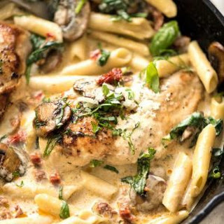Sun Dried Tomato Pasta with Chicken.
