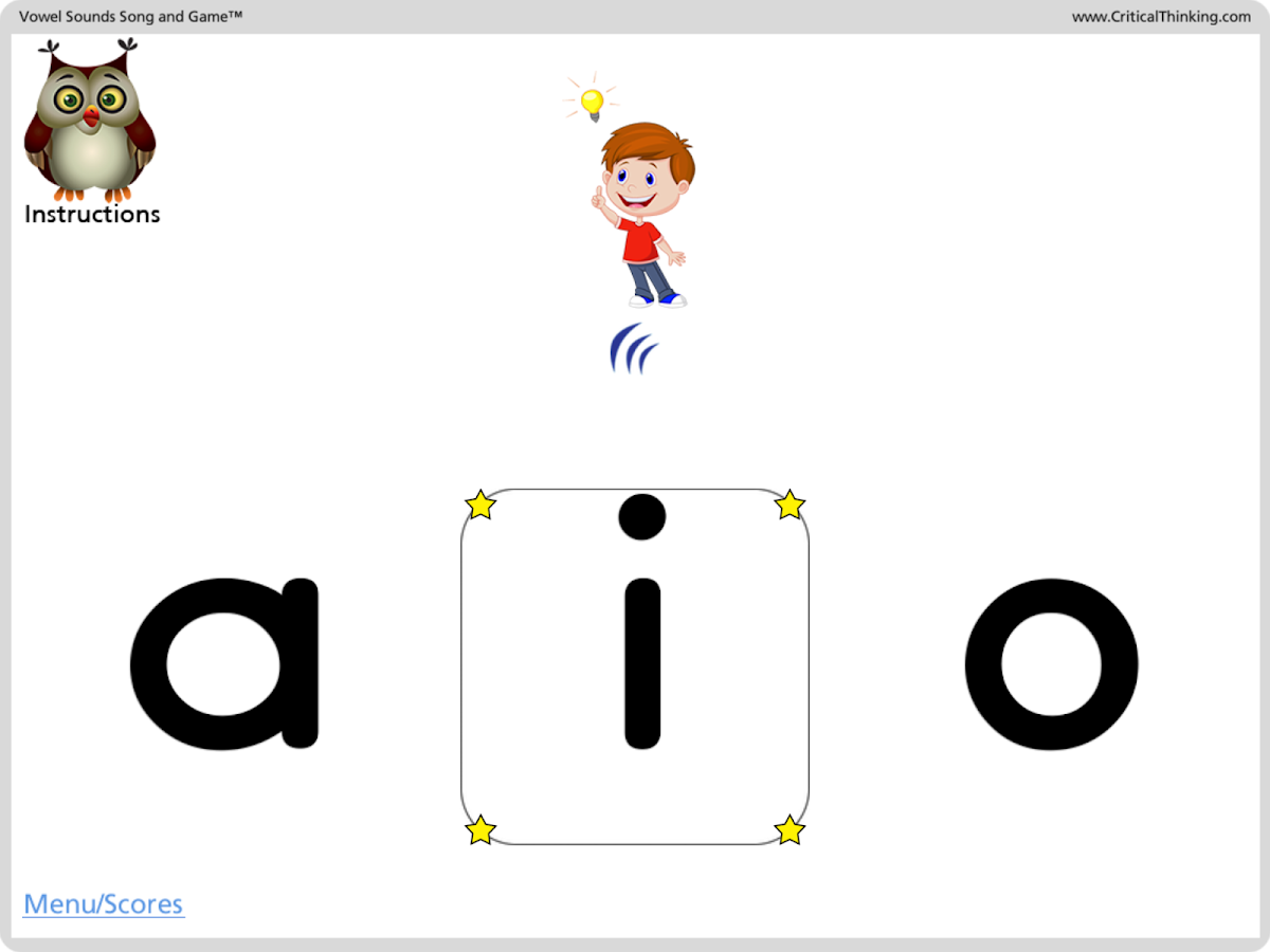 Vowel Sounds Song and Game™- screenshot