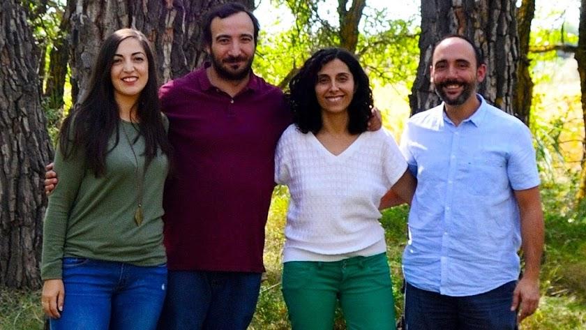 Integrantes de 'Educar en Paisaje', a la izquierda la almeriense Belén Sánchez.