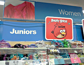 Photo: With a pre-teen a stop in the Juniors section is a must, Angry Birds seems to be everywhere these days.