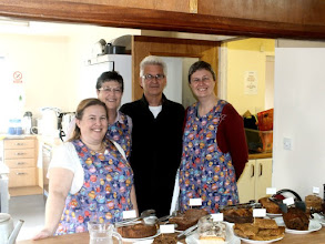 Photo: 004 The Catering Corps traditional photo: LtoR: Janet Hill, Pauline Webb, Paul Webb, Jane Thompson Webb .