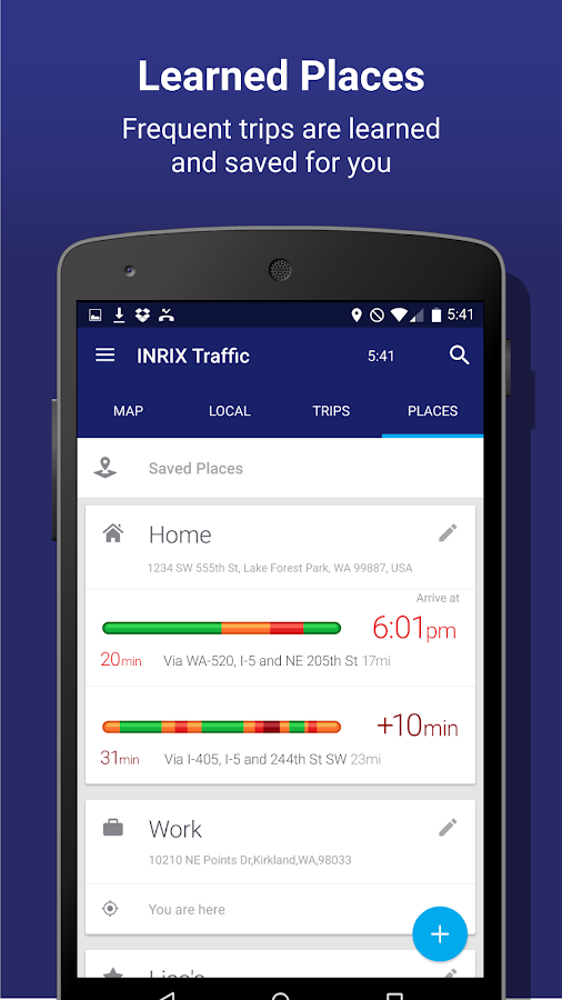 INRIX Traffic Maps & GPS- screenshot