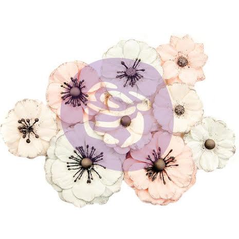 Prima Marketing Poetic Rose Paper Flowers 9/Pkg  - Daydreams UTGÅENDE