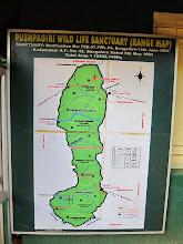 Photo: Map of Pushpagiri trek paths