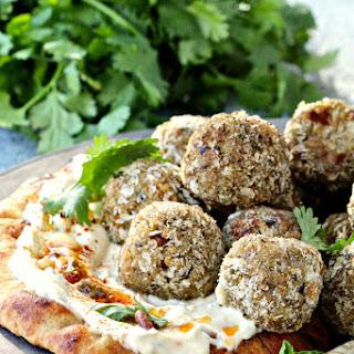 "Mediterranean Eggplant Hummus ""Meatballs"" Recipe"