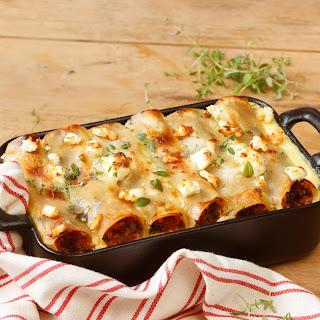 Cannelloni mit Spinat-Schafskäsefüllung