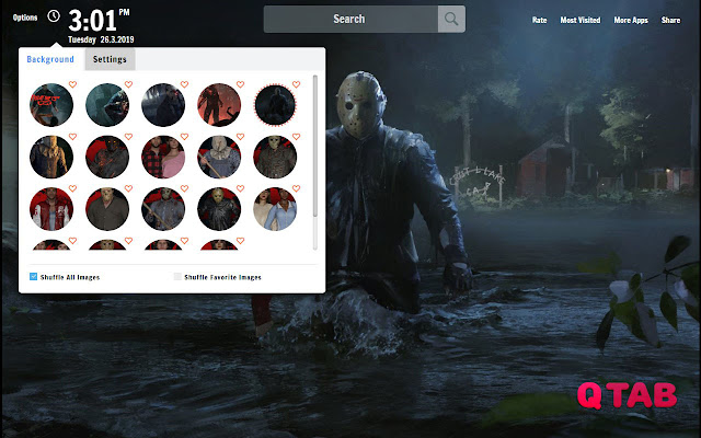 Friday The 13th New Tab Wallpapers