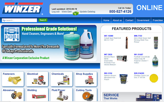 Winzer Corporation eCatalog