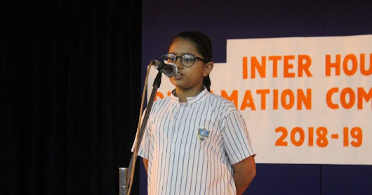 Inter House English Declamation - 2018