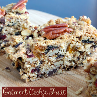 Chocolate Oatmeal Cookie Fruit and Nut Bars.