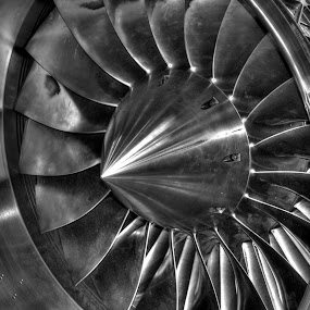 EJ200 Jet Engine by Doug Faraday-Reeves - Black & White Objects & Still Life ( eurojet, gas turbine, ej200, jet, bloodhound ssc )