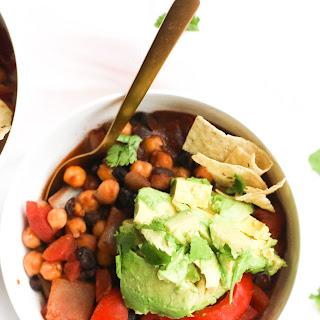 One Pot Spicy Three Bean Chili (V&GF).