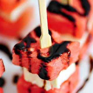 Watermelon Feta Appetizer Bites.