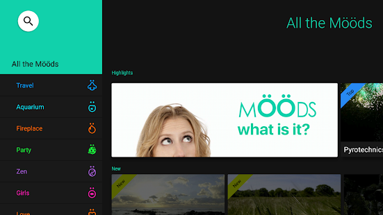 Moods - slow TV - náhled