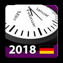 Deutschland Kalender 2018 Bundesweite Feiertage icon