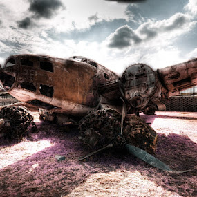 The Fallen by Elmer van Zyl - Transportation Airplanes ( hdr process,  )