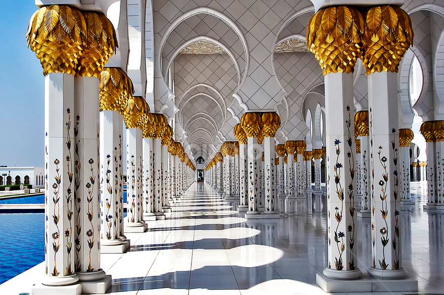 Sheik Zayed Grand Mosque 2 by Ivan Lee - Buildings & Architecture Places of Worship ( canon, landmark, interior, mosque, abudhabi, building, worship,  )