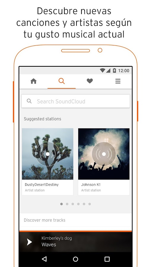 SoundCloud Música: captura de pantalla