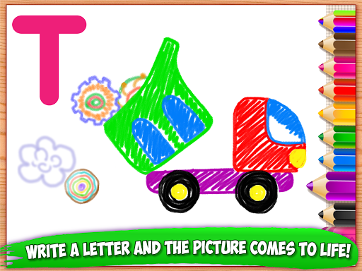 ABC DRAW ud83cudfa8 Kids Drawing! Alphabet Games Preschool  screenshots 11