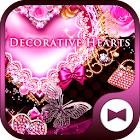 Cute Wallpaper Decorative Hearts Tema icon