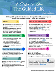7 Steps to Live a Life Guided By God