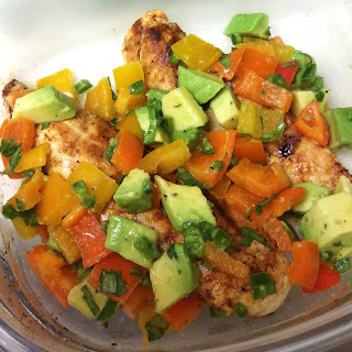 Cilantro-Lime Chicken with Avocado Pepper Salsa
