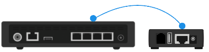Connect Google Fiber Phone Box to your Network Box or TV Box.