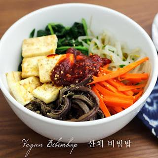 Vegan Bibimbap (Mixed Rice Bowl).