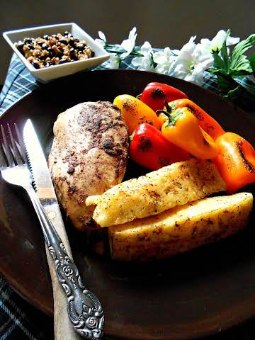 Tropical Roasted Chicken with Peppers & Pineapple