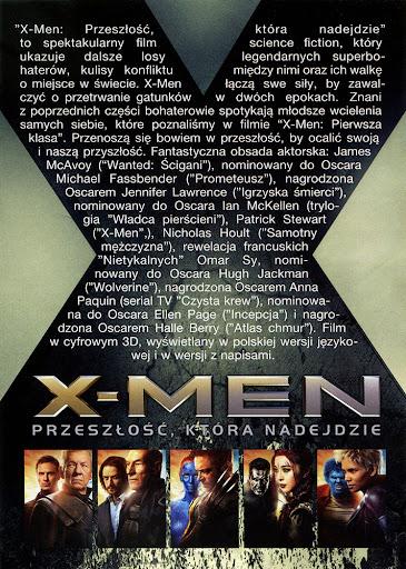 Tył ulotki filmu 'X-Men: Przeszłość, Która Nadejdzie'