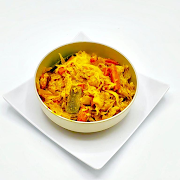 Tikil Gomen with Carrots (Cabbage and Carrot)