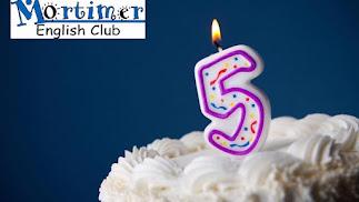 Mortimer English Club Almería celebra su 5º aniversario.