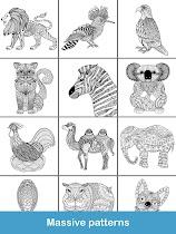Coloring pages:Animals Mandala - screenshot thumbnail 24
