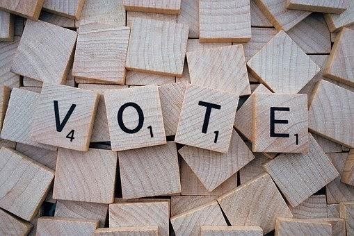 Fitxes Scrabble VOTE