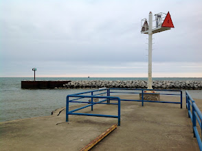 Photo: Boat access to Lake Huron at the end of a breakwater