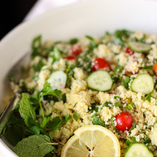 Easy, Healthy Couscous Tabbouleh.