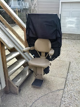 Photo: Bruno Outdoor Stairlift | Long Beach Island, NJ
