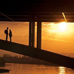 Secret love by Luana Racan - People Couples ( , color, colors, landscape, portrait, object, filter forge, silhouette, Urban, City, Lifestyle )