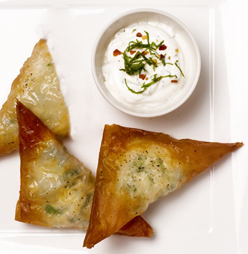 26. Ricotta and spinach filo parcels